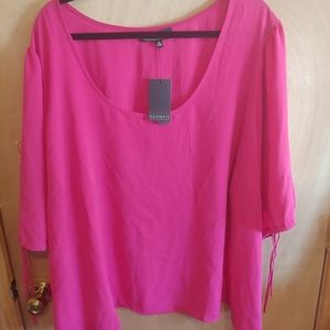 Eloquii Women's Plus Size 28 For Sleeve Top Nwt